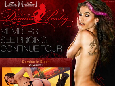 TS Domino Presley ... place where you can see some previously unreleased tranny sex footage, ...