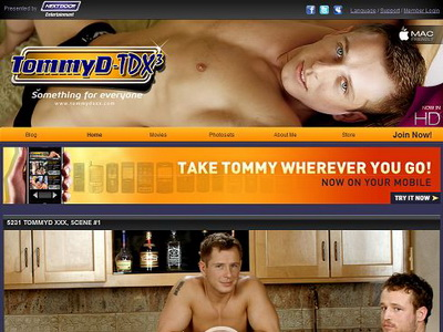 Get personal with Tommy D, a gay porn guy with the build of a jock and the ...