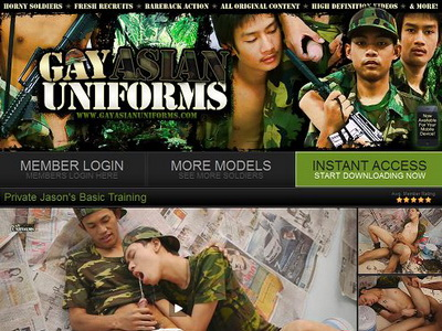 Gay Asian Uniforms mixes military uniforms, pissing and extreme hardcore gay ...